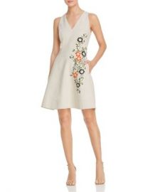 Elie Tahari Londa Sleeveless Embroidered Dress Women - Bloomingdale s at Bloomingdales
