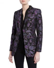 Elie Tahari Madison Floral Embroidered Jacket at Neiman Marcus