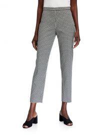 Elie Tahari Marcia Geometric Straight-Leg Ankle Pants at Neiman Marcus