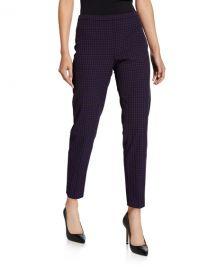 Elie Tahari Marcia Grid Straight-Leg Ankle Pants at Neiman Marcus
