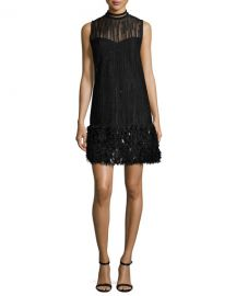 Elie Tahari Mirage Beaded Georgette Cocktail Dress at Neiman Marcus