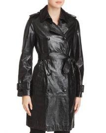 Elie Tahari Natania Leather Trench Coat Women - Bloomingdale s at Bloomingdales