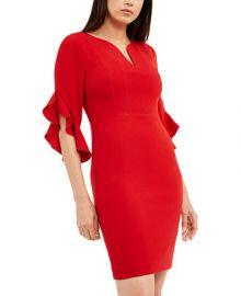 Elie Tahari Natanya Flutter-Sleeve Dress   Reviews - Dresses - Women - Macy s at Macys