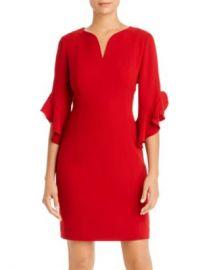 Elie Tahari Natanya Ruffled-Cuff Dress   Women - Bloomingdale s at Bloomingdales
