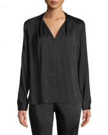 Elie Tahari Rosalina Silk-Stretch Blouse at Neiman Marcus