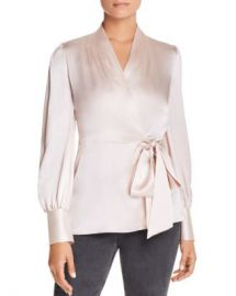 Elie Tahari Shay Silk Wrap Blouse - 100  Exclusive Women - Bloomingdale s at Bloomingdales