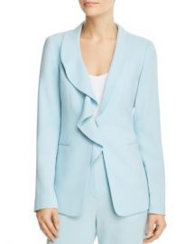 Elie Tahari Siyah Ruffle-Trim Blazer Women - Bloomingdale s at Bloomingdales