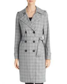 Elie Tahari Watson Plaid Trench Coat Women - Bloomingdale s at Bloomingdales