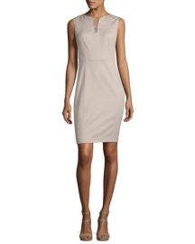 Elie Tahari Natanya Sleeveless Sheath Dress at Neiman Marcus