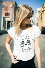 Elin Moon Tears Embroidery Top at Brandy Melville