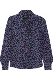 Elise Animal Print Silk Shirt by Vanessa Seward at Net A Porter
