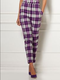 Elise Plaid Pant - Eva Mendes Collection by New York  Company at NY&C
