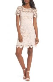 Eliza J Crochet Overlay Dress  Regular   Petite at Nordstrom