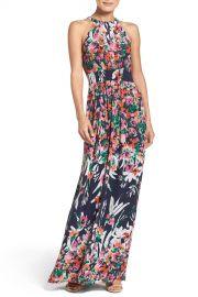 Eliza J   Print Chiffon Halter Maxi Dress   Nordstrom Rack at Nordstrom Rack