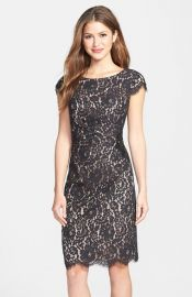 Eliza J Beaded Lace Sheath Dress at Nordstrom