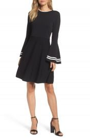 Eliza J Bell Sleeve Fit   Flare Dress at Nordstrom