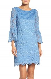 Eliza J Bell Sleeve Lace Dress at Nordstrom