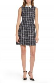 Eliza J Boucl   Plaid Shirt Collar Dress  Regular  amp  Petite    Nordstrom at Nordstrom