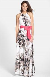 Eliza J Chiffon Maxi Dress at Nordstrom