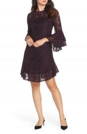 Eliza J Double Ruffle Lace Dress at Nordstrom