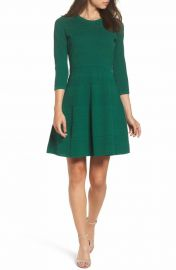 Eliza J Fit and Flare Sweater Dress at Nordstrom