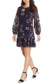 Eliza J Floral Chiffon Shift Dress   Nordstrom at Nordstrom