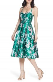 Eliza J Floral Jacquard Fit  amp  Flare Dress   Nordstrom at Nordstrom