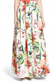 Eliza J Floral Print Faille Ball Skirt at Nordstrom
