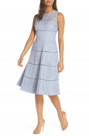 Eliza J Lace Fit  amp  Flare Dress  Regular  amp  Petite at Nordstrom