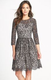 Eliza J Lace Fit and Flare Dress at Nordstrom