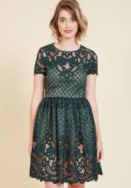Eliza J Luxuriant Lace Mini Dress at Modcloth