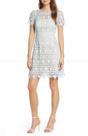 Eliza J Open Lace Dress  Regular  amp  Petite    Nordstrom at Nordstrom