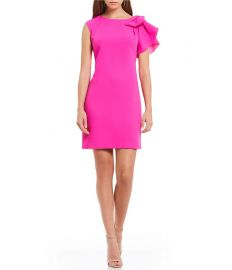 Eliza J Ruffle Shoulder Shift Dress at Dillards