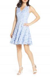 Eliza J Sleeveless Lace Fit  amp  Flare Dress  Regular  amp  Petite    Nordstrom at Nordstrom