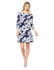 Eliza J Women s Floral Drop Waist Dress at Amazon