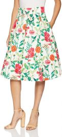 Eliza J Women s Floral Midi Skirt at Amazon