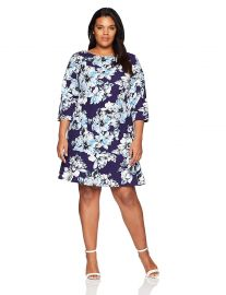 Eliza J Women s Plus Size Floral Drop Waist Dress at Amazon