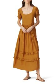 Eliza Ruffle Maxi Dress by The Odells at Rent The Runway