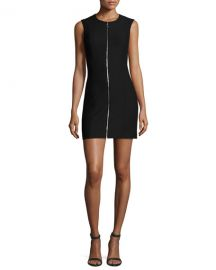 Elizabeth and James Susannah Sleeveless Full-Zip Bodycon Mini at Neiman Marcus