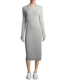 Elizabeth  amp  James Monroe Fitted Midi Sweaterdress   Neiman Marcus at Neiman Marcus
