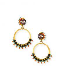 Elizabeth Cole Brandyce Hoop Drop Earrings at Neiman Marcus