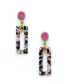 Elizabeth Cole Gaylen Link Drop Earrings at Neiman Marcus