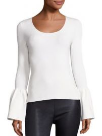 Elizabeth and James - Willow Bell Sleeve Ribbed Top at Saks Fifth Avenue