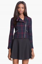 Elizabeth and James  Patti  Plaid Quilted Moto Jacket at Nordstrom