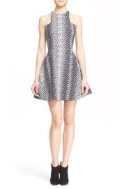 Elizabeth and James Clarissa Ikat Print Fit and Flare Dress at Nordstrom