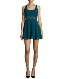 Elizabeth and James Kenton Sleeveless Mini Dress Prussian Blue at Neiman Marcus