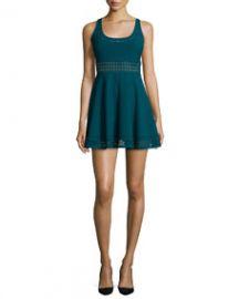Elizabeth and James Kenton Sleeveless Mini Dress Prussian Blue at Neiman Marcus