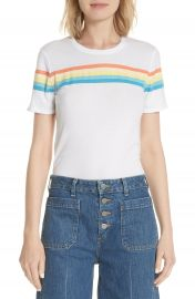 Elizabeth and James Rainbow Stripe Tee   Nordstrom at Nordstrom