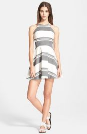Elizabeth and James and39Magdalenaand39 Stripe Fit andamp Flare Dress at Nordstrom