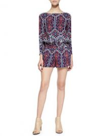 Ella Moss Long-Sleeve Jumpsuit W Flora Vista Print at Neiman Marcus